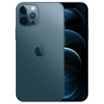 "iPhone 12 Pro Max 512Gb Pacific Blue Pacific Blue (MGDL3) экран: 6,7"" OLED (1170x2532); процессор: Apple A14 Bionic • ОС: Apple iOS 14 • камера: 12 (f/1.6, широкоугольная) + 12 (f/2.4, 120 градусов, сверхширокоугольная) + 12 (f/2.0, 2х кратный телеобъектив)"