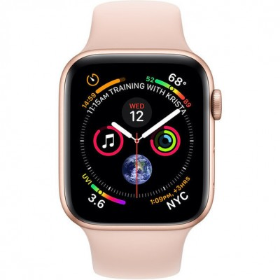 Apple Watch Series 4 (eSIM) 44mm Gold Aluminum Case Apple Watch Series 4 (GPS + Cellular) 44mm Gold Aluminum Case with Pink Sand Sport Band (MTV02)