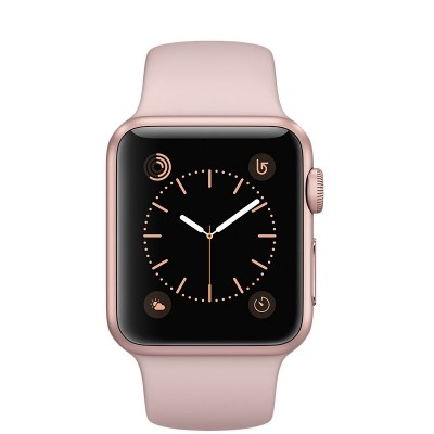38mm Apple Watch Rose Gold (MNNH2) 38mm Apple Watch Series 1 Rose Gold Aluminum Case with Pink Send Band
