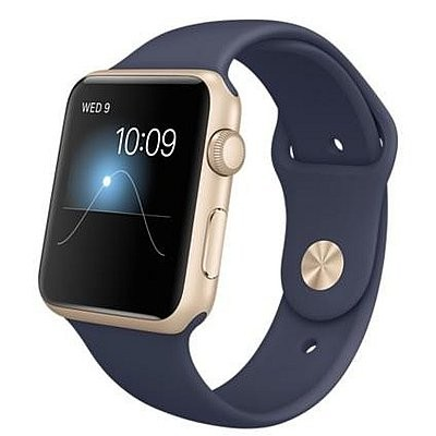 42mm Apple Watch Gold (MQ122) 42mm Apple Watch Series 1 Gold  Aluminum Case with Midnight Blue Sport Band
