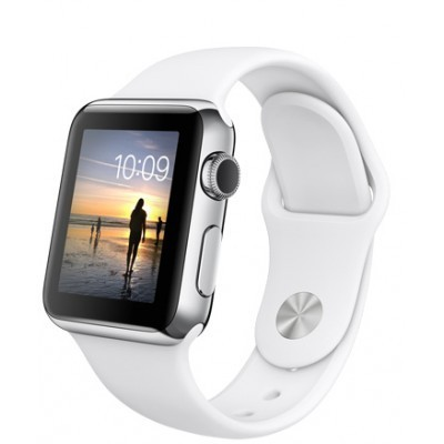 42mm Apple Watch Silver (MNNL2) 42mm Apple Watch Series 1 Silver  Aluminum Case with White Sport Band