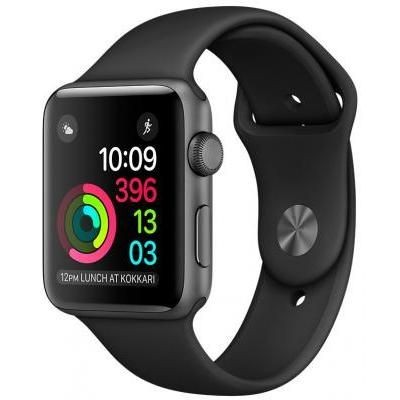 42mm Apple Watch Space Gray (MP032) 42mm Space Gray Aluminum Case with Black Sport Band (MP032)