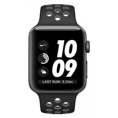 38mm Apple Watch Nike+ Space (MQ102) 38mm Apple Watch Nike+ Space Gray (MQ102) Aluminum Case with Anthracite/Black Nike Sport Band
