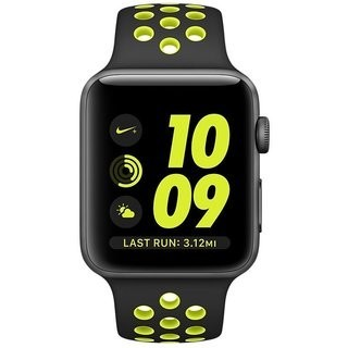 42mm Apple Watch Nike+ Space Gray (MP0A2) 42mm Apple Watch Nike+ 42mm Space Gray Aluminum Case with Black/Volt Nike Sport Band  (MP0A2)